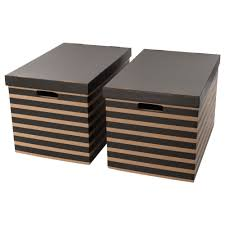 IKEA PINGLA box with lid Cut-out handles on two sides make it easier to