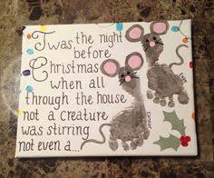 Your Childu0027s Actual Footprints Footprint Art By MyForeverPrints Infant Christmas Crafts