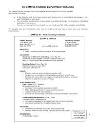 Resume Templates Example Of An Objective On Marvelous A Examples