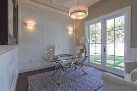 diy wall paneling ideas home office contemporary with glass desk swivel chair frame and panel millwork