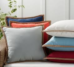 synthetic trim indoor outdoor pillow
