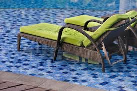 swimming pool lounge chair. Download Swimming Pool Lounge Chair Stock Photo. Image Of Green - 43893108