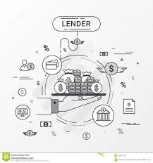 Lender Infographics Concept Loan Lending Of Money From Bank