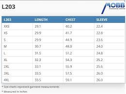 Unisex Lab Coat Size Chart L203 Half Length Unisex Lab Coat