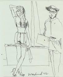 Harry Weisburd Degas Sketching Model