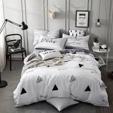 twin queen king size s kids bed set 100 cotton cartoon white grey blue bedding set duvet cover bed sheet pillowcase tropical bedding comforters and