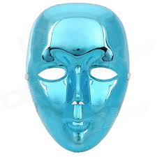 Decorative Face Masks PVC Decorative Face Mask for HipHop Bboy JabbaWo Blue Free 69