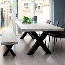 bolt solid wood metal dining table nice furniture for your home in 2018