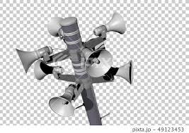防災放送イメージ透過素材のイラスト素材 49123453 Pixta