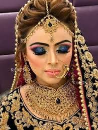 n a stani bridal makeup bridal lehenga bridal nose ring bridal hair