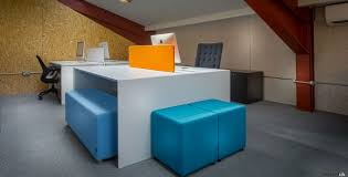 orange office furniture. FantoniUK Showroom White Office Desk Orange Furniture