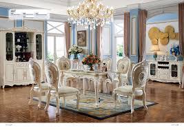 Barock Antik Stil Esszimmer Set Holz Marmor Tisch