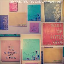 Wall Art Canvas Quotes Improbable DIY Favorite 21
