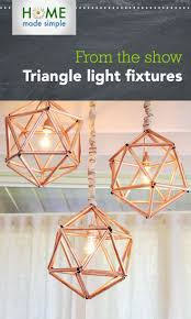 unique diy lighting. DIY Copper Triangle Light Fixtures. Get Step-by-step Instructions To Create Unique Diy Lighting G