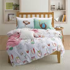 bedroom awol cartoon children kids cotton print twin duvet covers