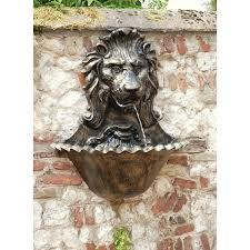 cast aluminium lion water fountain