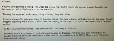 my isjosephine on i told my sister to write an essay my isjosephine on i told my sister to write an essay on the wage gap for her class this is her professor s reply t co tbsclgerlu