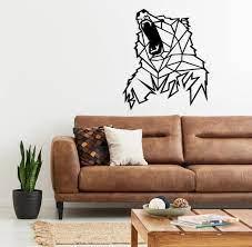 geometric bear metal wall decor wall