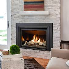 the chaska 34 gas fireplace insert can be ordered with either a log set glass