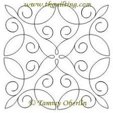 Beautiful free-motion designs at Quilters Niche. These are ... & Simple Curlique Block for my curves quilt Adamdwight.com
