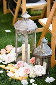 wedding aisle flowers. Lantern wedding aisle decor Deer Pearl Flowers
