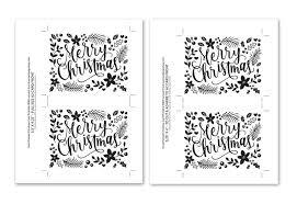 Diy Foil Hand Painted Christmas Card Printable Black Version