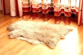 mongolian lamb fur rug faux beige sheepskin