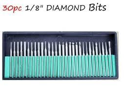 dremel diamond bits. get quotations · 30pcs drill bits kits nail set shank 3/32 manicure 30 diamond burr dremel