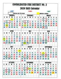 Firefighters Shift Calendar 2020 Printable Fire Shift Calendars 2020 Example Calendar Printable