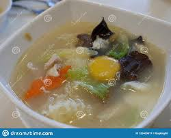 Chinese Seafood Soup stock image. Image ...