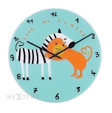 home clock kids nextime kids wall clock love me tender