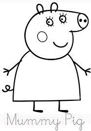 In this coloring page, it seems that daddy pig has won a competition and a trophy along with it. Coloring Rocks Peppa Pig Coloring Pages Peppa Pig Colouring Peppa Pig Drawing