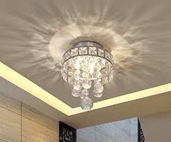 mini style 3 light chrome finish crystal chandelier