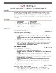 sample public relations resume public relations resume template pr public relations intern resume