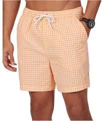 Nautica Mens Checkered Swim Bottom Board Shorts
