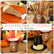 easy kids thanksgiving table diy ideas