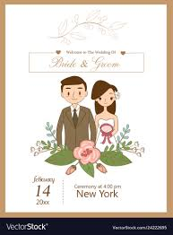 Wedding Invitation With Photo Cute Wedding Couple For Wedding Invitations Card