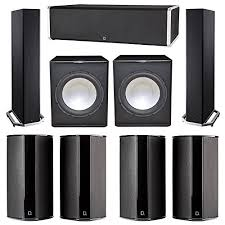 definitive technology home theater. definitive technology 7.2 system with 2 bp9020 tower speakers, 1 cs9060 center channel speaker, home theater r