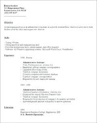 Resume Template For Administrative Position Administrative Job Cover ...