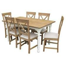 Loire Dining Table And 4 Cream Chairs