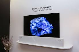 lg display 65 inch rollable oled tv