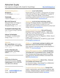 Resume Example User Experience Resume Ixiplay Free Resume Samples