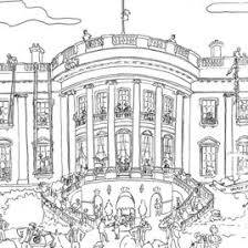Small Picture White House Coloring Pages Us White House Washington Dc With White