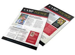 Playful Church Camp Newsletter Template