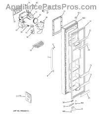 ge wr55x10859 interface dispenser asm appliancepartspros com part diagram