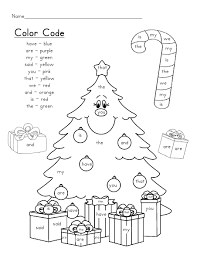 Small Picture Coloring Pages Christmas Tree Sight Words Scribd Classroom Ideas