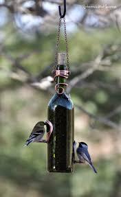view in gallery wine bottle bird feeder