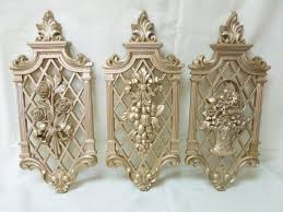 syroco wall hangers plaques flowers