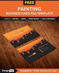 Free Painting Business Card Psd Template Free Business Card