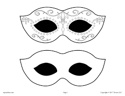 Explore 623989 free printable coloring pages for your kids and adults. Printable Mardi Gras Mask Template Supplyme